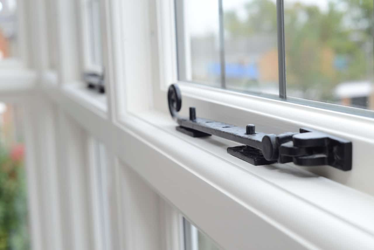 Acoustic glass on a casement window