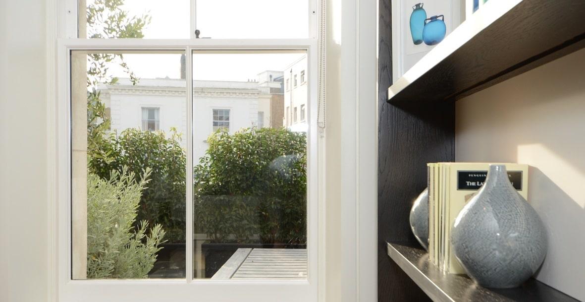 Thermally efficient slimline double glazing